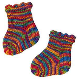 Вязание носок для детей на спицах