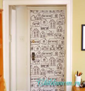 Межкомнатные двери как украсить