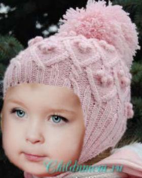 шапочка для девочки спицами