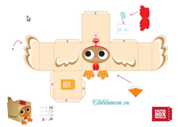 Шаблоны животные из бумаги схемы