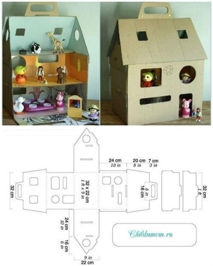 Как сделать из бумаги домик для маленьких кукол