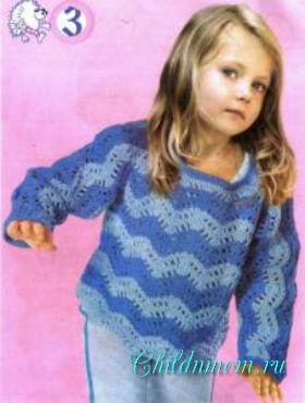свитер для девочки крючком