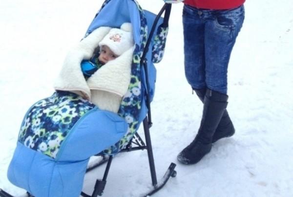 Санки-коляска для новорожденных