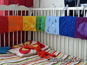 Как сшить бортики в кроватку для новорожденных