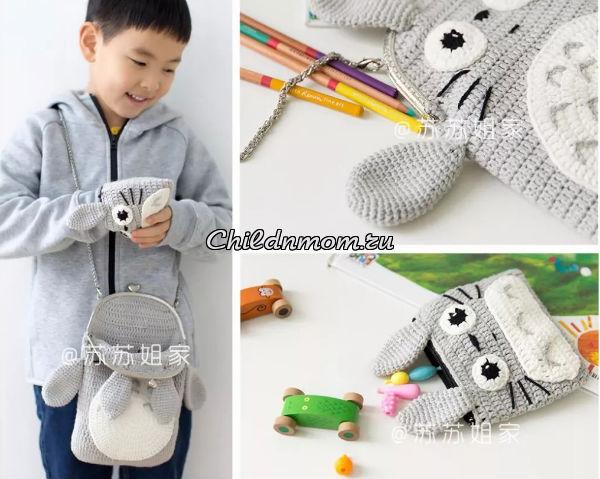 сумка заяц крючком