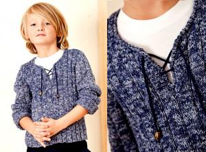 Спортивный пуловер со шнуровкой для мальчика